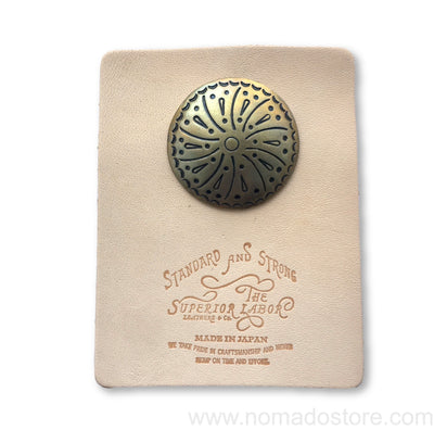 The Superior Labor Brass Circle  Concho (2 sizes/designs) - NOMADO Store
