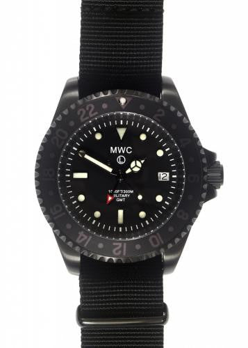 MWC GMT Dual Timezone Military Watch in Black PVD Steel - NOMADO Store