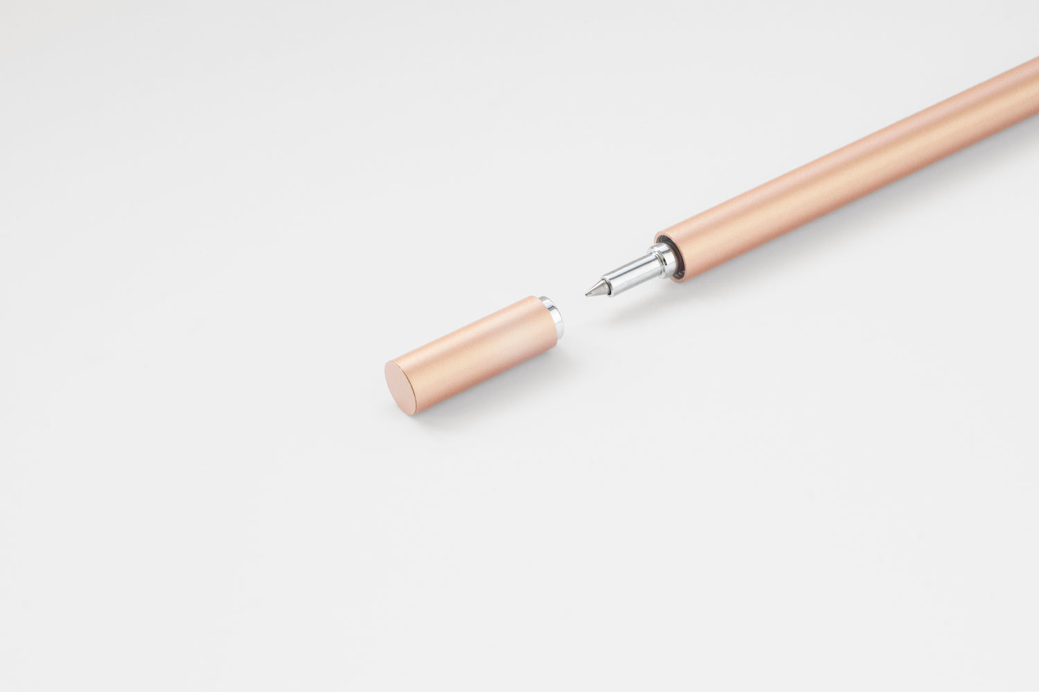 TEN Stationery Shell Rollerball Pen Rose Gold