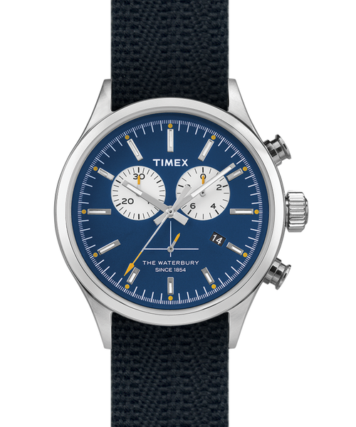 Timex Archive Waterbury Chronograph Steel/Blue Dial