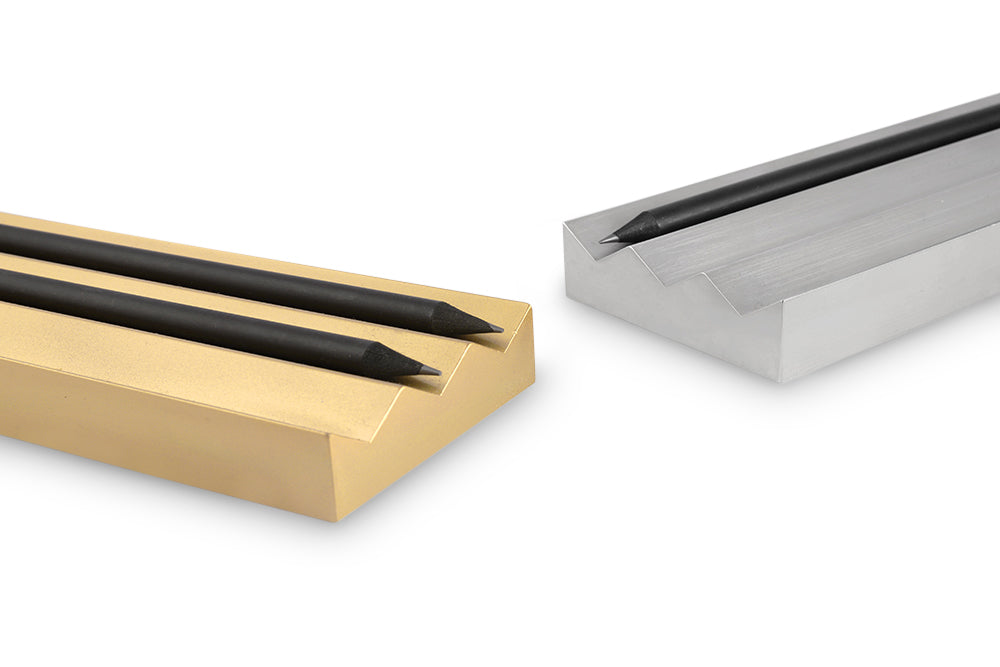 3 pencil holder - satin silver finish - NOMADO Store
