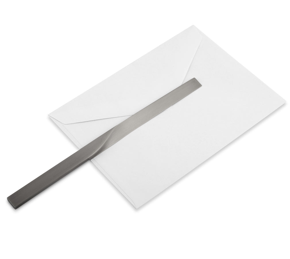 CURVE letter opener - satin silver finish - NOMADO Store