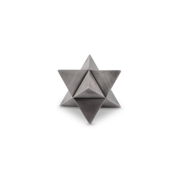 MERKABA paperweight - aged silver finish - NOMADO Store