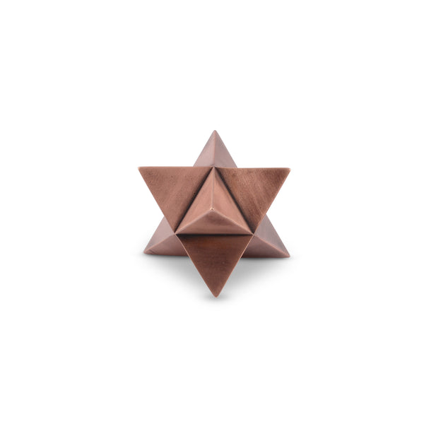 MERKABA paperweight - aged copper finish - NOMADO Store