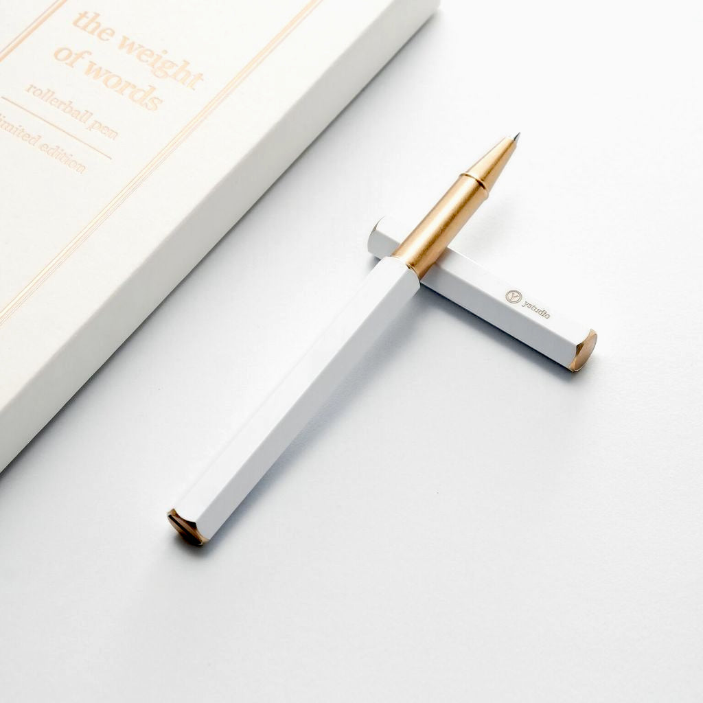 Ystudio Limited Edition White Rollerball Pen - NOMADO Store