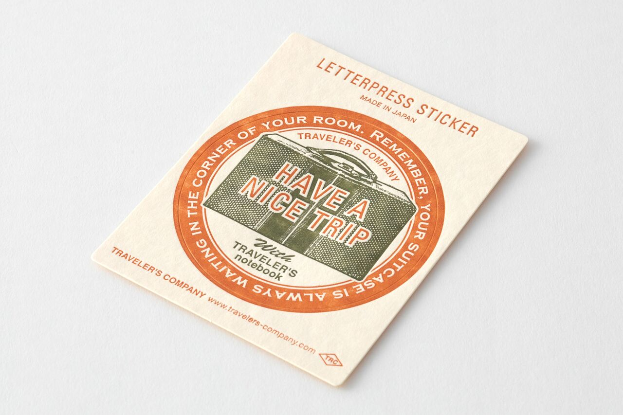 TRAVELER'S LTD Edition - Travel Tools - Letterpress Sticker RED