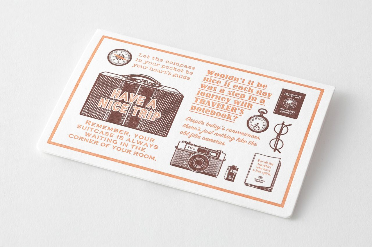 TRAVELER'S LTD Edition - Travel Tools - Letterpress Card Brown