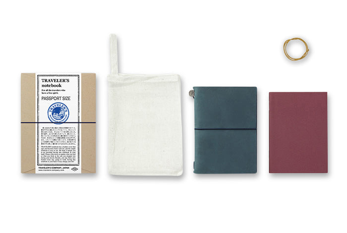 Traveler's Notebook Passport size - Starter kit BLUE - NOMADO Store