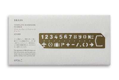 Midori Traveler's Company BRASS - Bookmark Numbers - NOMADO Store