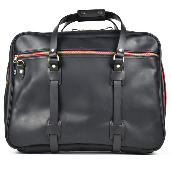 CROOTS VINTAGE LEATHER RANGE FLIGHT BAG (Black) - NOMADO Store