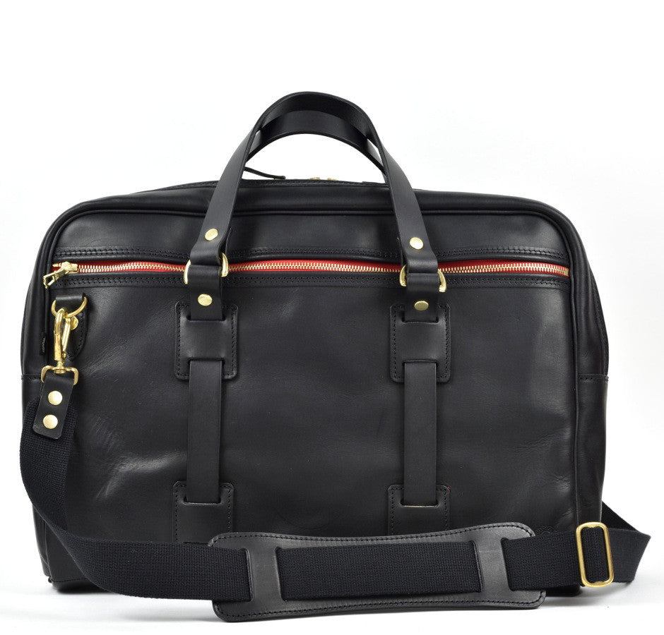CROOTS VINTAGE LEATHER LAPTOP BAG (Black) - NOMADO Store