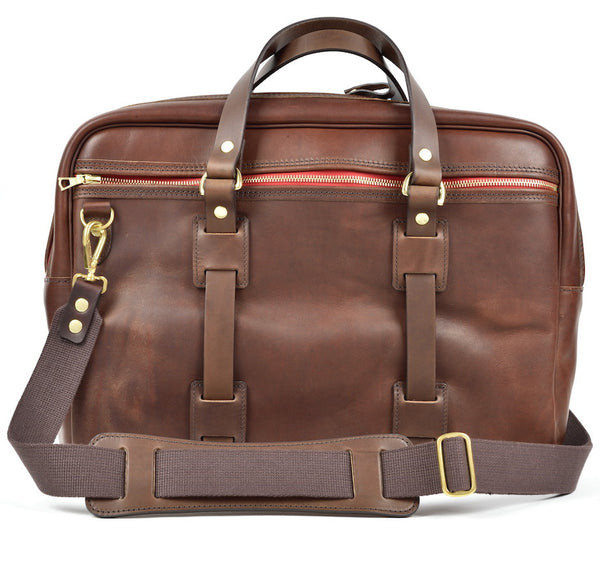 CROOTS VINTAGE LEATHER LAPTOP BAG (Port) - NOMADO Store