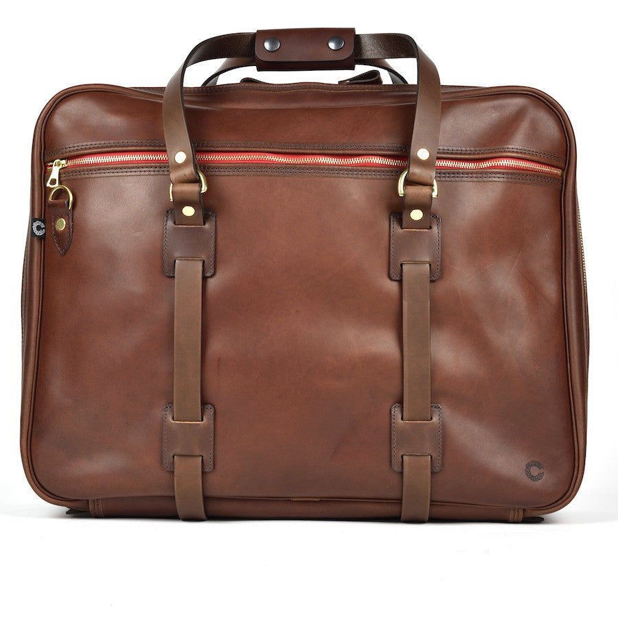CROOTS VINTAGE LEATHER RANGE FLIGHT BAG (Port) - NOMADO Store