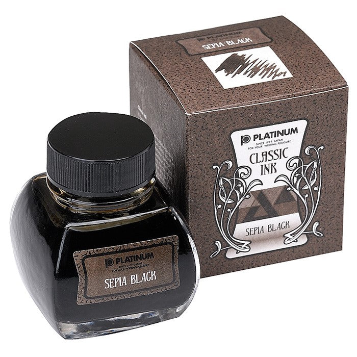Platinum Dyestuff Bottle Ink (sepia black) - NOMADO Store