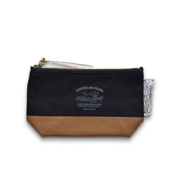 The Superior Labor Engineer pouch black canvas, light khaki paint