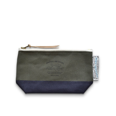 The Superior Labor Engineer pouch khaki/olive canvas, navy paint - NOMADO Store