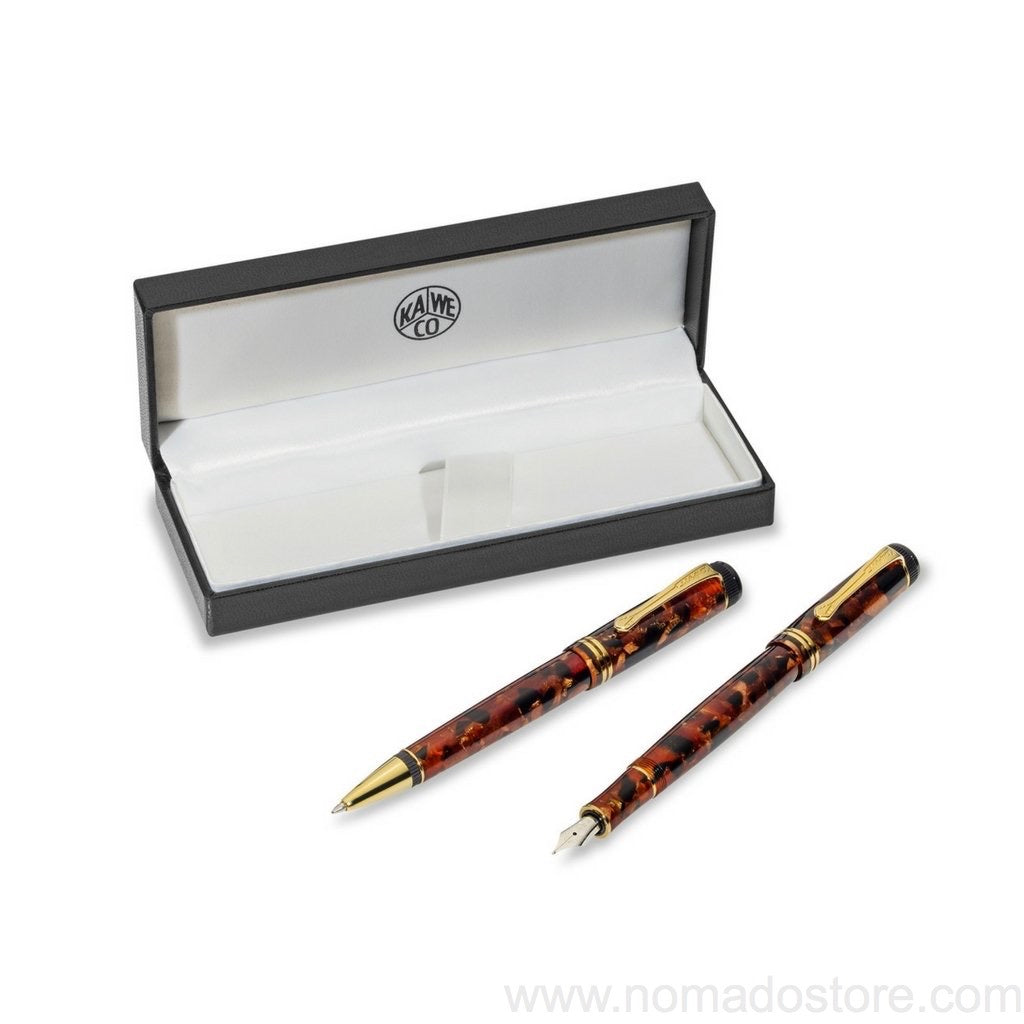 Kaweco Dia2 Amber Limited Edition Set (M or F nib) - NOMADO Store