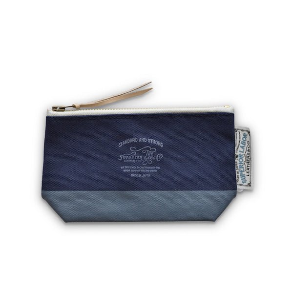 The Superior Labor Engineer pouch navy canvas, blue grey paint - NOMADO Store