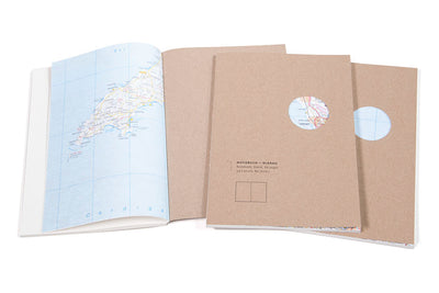 "Roterfaden Smaller A5 ""Maps Edition"" Blank Notebook (14x20cm) - NOMADO Store"