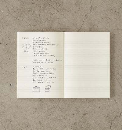 Midori MD Notebook - (A5) - Ruled - NOMADO Store