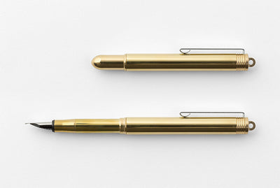 Traveler's Company BRASS - Fountain Pen Solid Brass - NOMADO Store