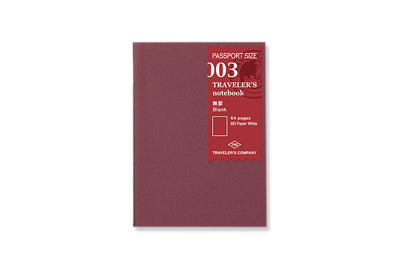 Midori Traveler's Notebook Passport size - 003. Blank Refill Passport Size - NOMADO Store