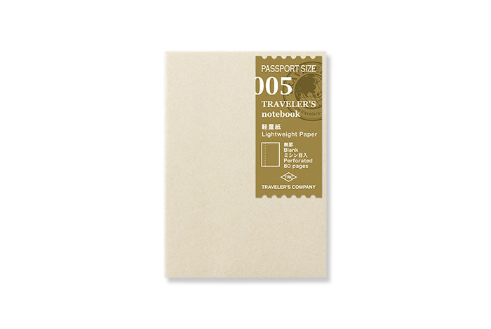 Midori Traveler's Notebook Passport size - 005. Lightweight Paper Refill Passport Size - NOMADO Store