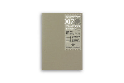 Midori Traveler's Notebook Passport size - 007. Free Diary Week - PP - NOMADO Store