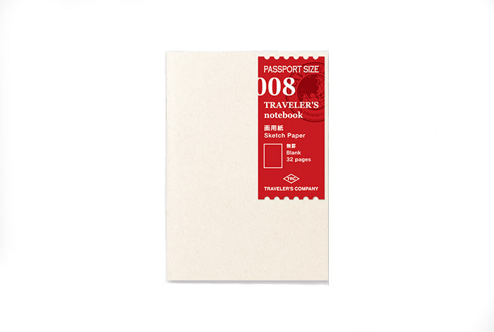 Midori Traveler's Notebook Passport size - 008. Sketch Paper Notebook - NOMADO Store