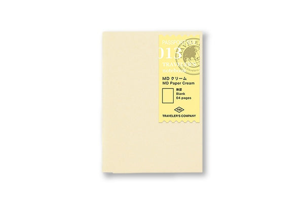 Traveler's Notebook Passport size - 013. MD Paper Cream Refill