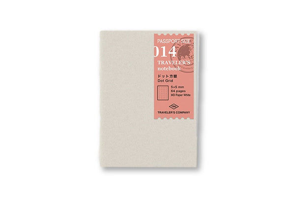 Traveler's Notebook Passport size - 014. Dot Grid Refill