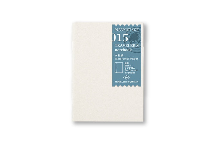 Traveler's Notebook Passport size - 015. Watercolor Paper Refill