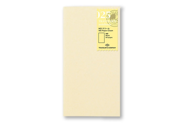 Traveler's Notebook - 025. MD Paper Cream Refill - NOMADO Store