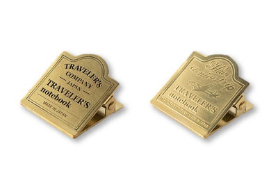 Traveler's Notebook - 030. Brass Clip - Logo or Airplane