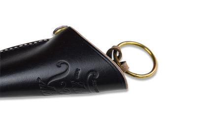 S.F.K. Leather Bell Key Case - Natural or Black - NOMADO Store