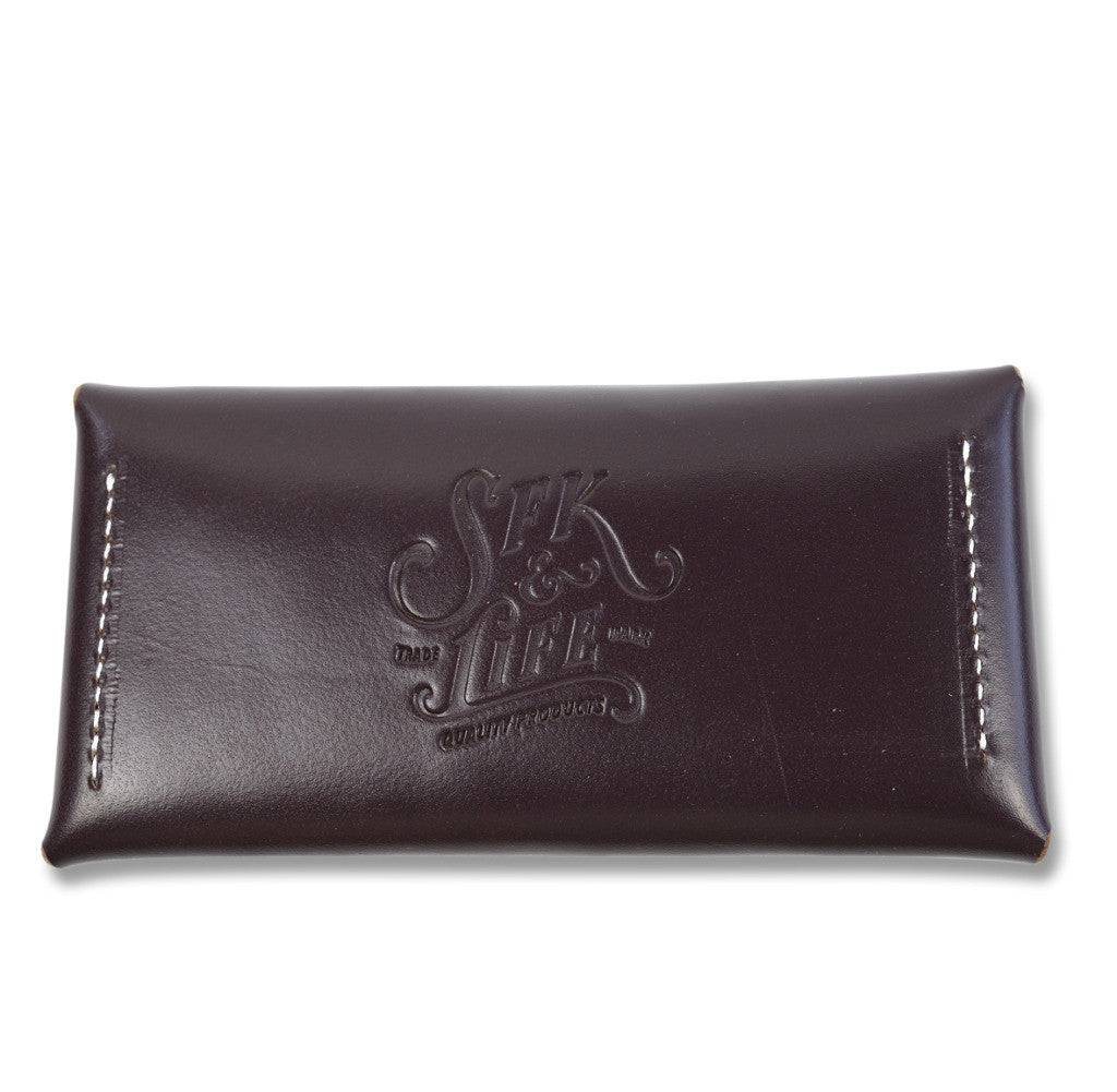 S.F.K. Leather Everyday Carry/Cigarette pouch - Burgundy - NOMADO Store