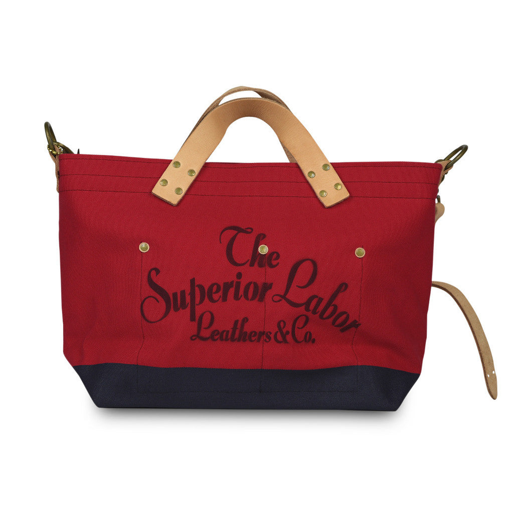 The Superior Labor Engineer Shoulder bag S red body navy paint. Pre-Order - NOMADO Store