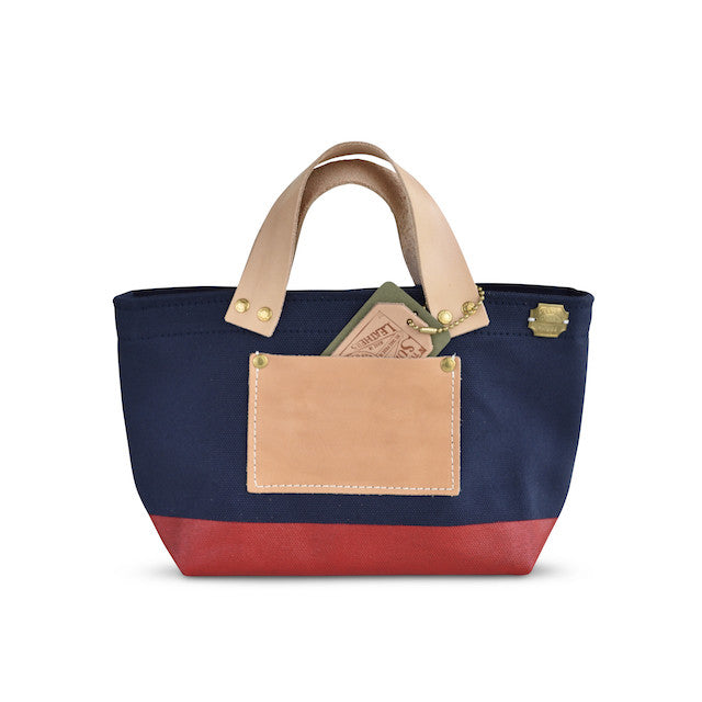 The Superior Labor Engineer Bag Petite Navy/Red Paint - NOMADO Store
