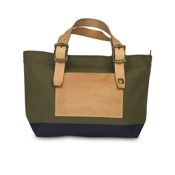 The Superior Labor Engineer Tote bag S khaki body navy paint - NOMADO Store