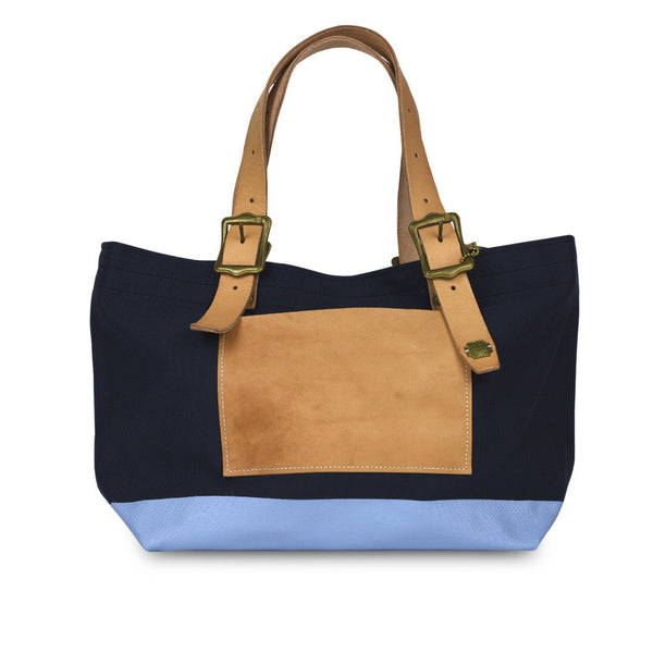 The Superior Labor Engineer Tote bag S navy body light blue paint - NOMADO Store