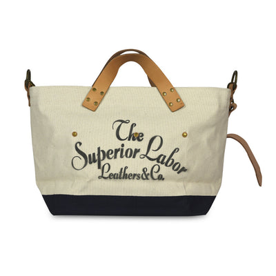 The Superior Labor Engineer Shoulder bag S natural body navy paint - NOMADO Store