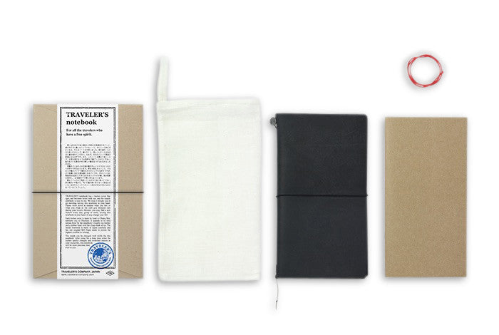 Midori Traveler's Notebook - Starter Kit Black - NOMADO Store