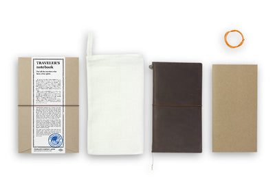 Midori Traveler's Notebook - Starter Kit Brown - NOMADO Store