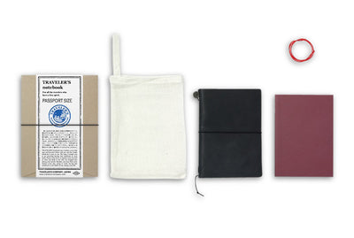 Midori Traveler's Notebook Passport size - Starter kit Black - NOMADO Store