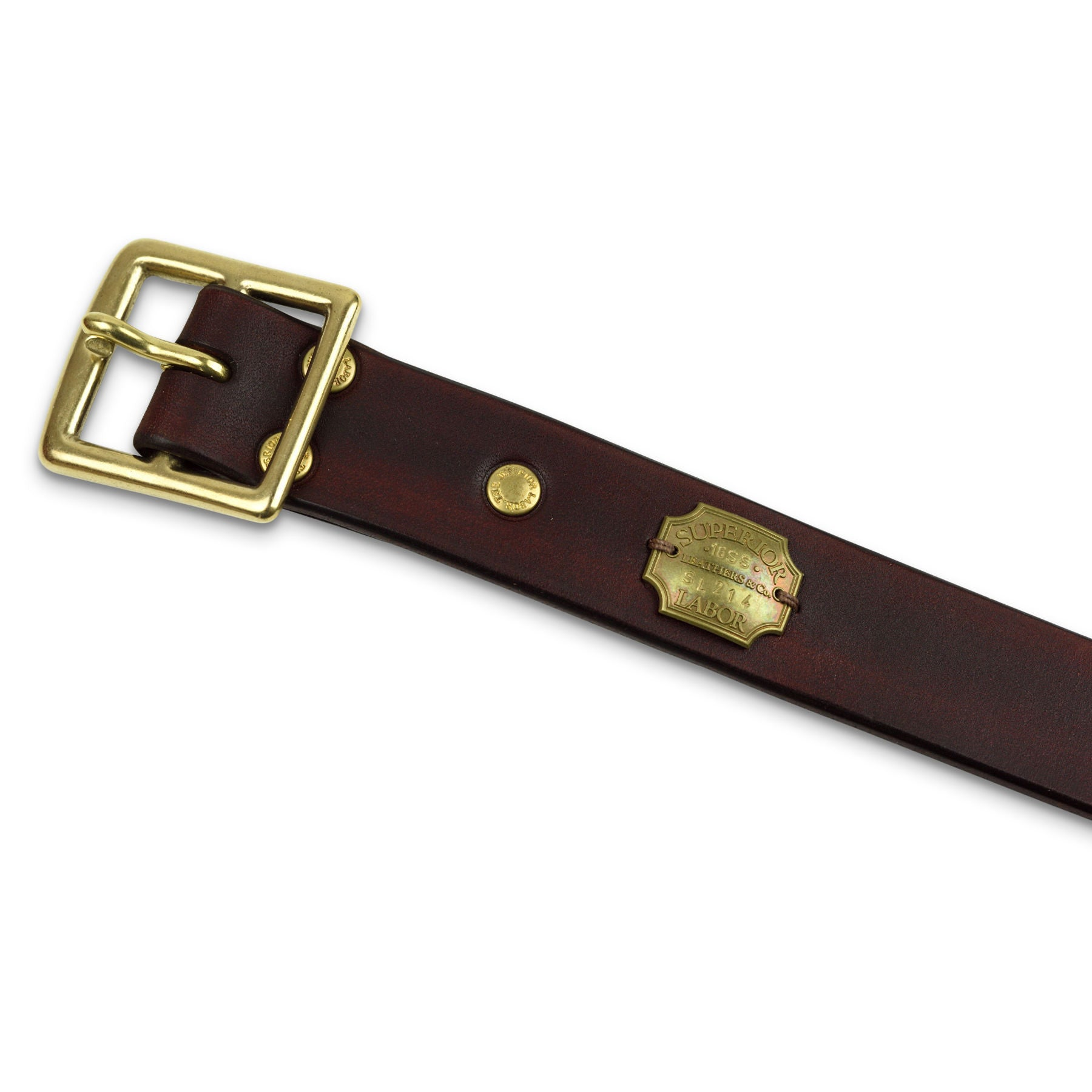 Superior Labor hand dye standard leather belt brown - NOMADO Store