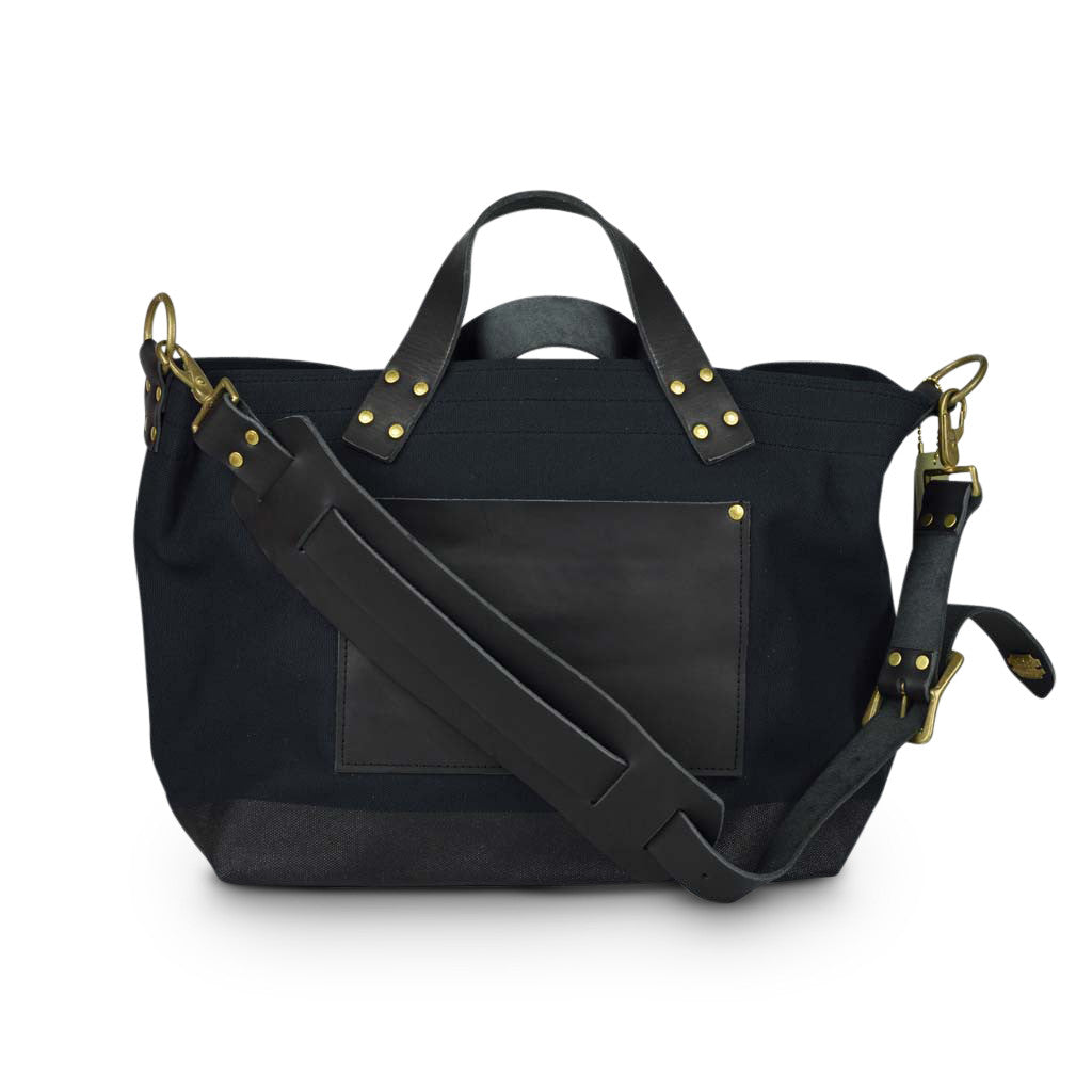 Superior Labor engineer shoulder bag S black body black paint black leather. - NOMADO Store