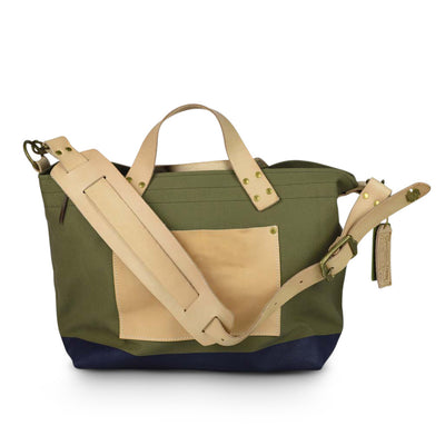 The Superior Labor Engineer Shoulder bag S khaki body navy paint - NOMADO Store
