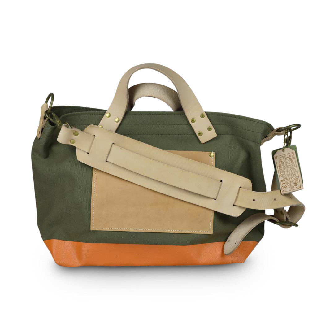 Superior Labor engineer shoulder bag S khaki body orange paint PRE-ORDER - NOMADO Store