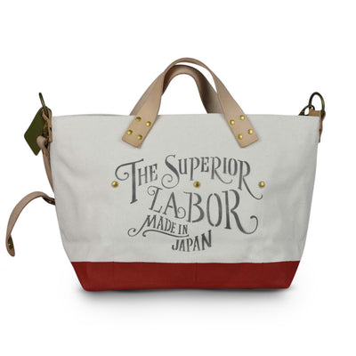 Superior Labor engineer shoulder bag S natural body red paint PRE-ORDER - NOMADO Store