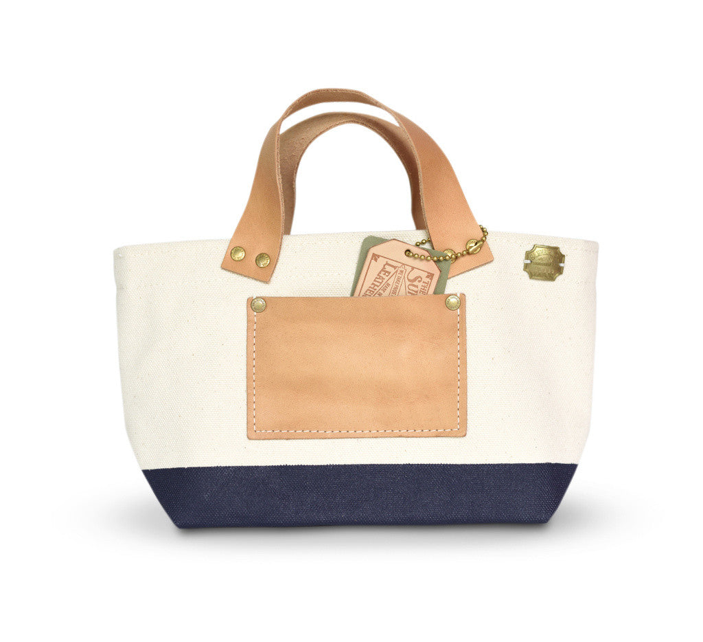 The Superior Labor Engineer Bag Petite Natural/Navy Paint (Pre-order) - NOMADO Store